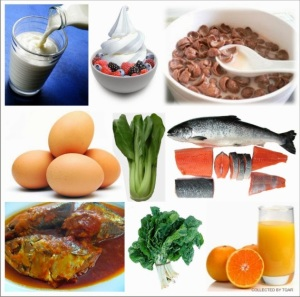 calcium & vitamin D rich foods