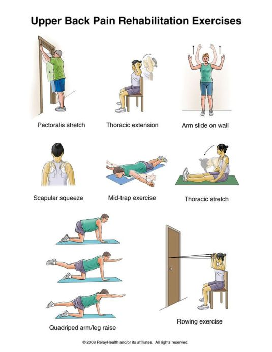 upper back pain rehab